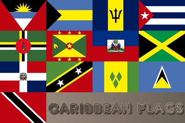 Caribbean Flags 20 Country Flag Set From 2000