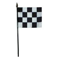 Miniature Checker Flag