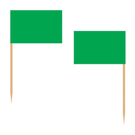 green toothpick flags